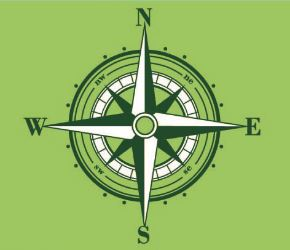 Green compass logo of the Trailblazers house at ESE