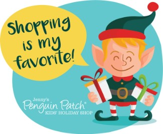 Holiday Elf stating he loves to shop